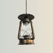 Rust Built Vintage Pendant Light with Glass Shade (DK-5260-D1A)