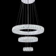 3-Ring Stainless Steel Built Modern LED Crystal Chandelier with Remote Control (DK-LD1050B-3)