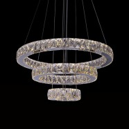 3-Ring Stainless Steel Built Modern LED Crystal Chandelier with Remote Control (DK-LD8802-3)