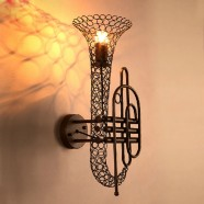 Iron Built Rust Vintage Wall Sconce (DK-5048-B1)