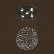 Stainless Steel Built Modern LED Crystal Ceiling Chandelier (DK-LD5011-5)