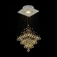 Stainless Steel Built Modern LED Crystal Ceiling Chandelier (DK-LD5000-1)