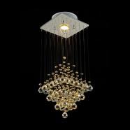 Stainless Steel Built Modern LED Crystal Ceiling Chandelier (DK-LD5000-1)