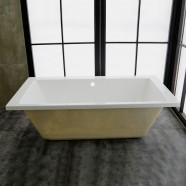 59 In Rectangle Built-in Bathtub – Acrylic White (DK-MEC3057A)