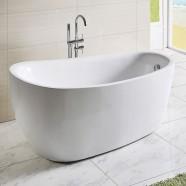 67 In White Acrylic Freestanding Bathtub (DK-Q168)
