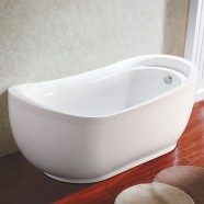 70 In White Acrylic Freestanding Bathtub (DK-Q142)