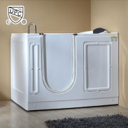 51 x 30 In Walk-in Whirlpool Soaking Bathtub - Acrylic White with Right Drain (DK-MQ380-R)