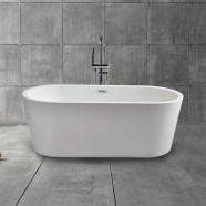 67 In Freestanding Bathtub - Acrylic Pure White (DK-PW-59770)