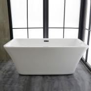 59 ln Freestanding Bathtub - Acrylic White (DK-MEC3047A)