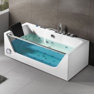 68 In Air Bubble Whirlpool Tub with Computer Control and Light (DK-Q408)