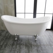 69 In Clawfoot Freestanding Bathtub - Acrylic White (DK-MEC3140)