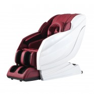 Zero Gravity Heated Reclining L-Track Massage Chair in Wine Red (DLA10-WR)