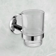 Round Tumbler Holder - Chrome Brass (6402)