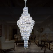 36-Light Chrome Crystal Hall Chandelier (HY02SJD028A)