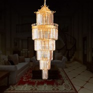 33-Light Gold Crystal Hall Chandelier (HY02SJD031B)