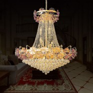 36-Light Gold Crystal Hall Chandelier (HY02SJD035A)