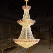 109-Light Gold Crystal Hall Chandelier (HY02SJD035B)