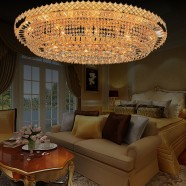 24-Light Large Gold Crystal Ceiling Light (HY02SJX041B)