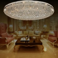 32-Light Large Chrome Crystal Ceiling Light (HY02SJX041A)