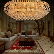 96-Light Large Gold Crystal Ceiling Light (HY02SJX040B)