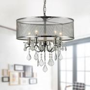 5-Light Modern Crystal Iron Chandelier (DK-RL5634)