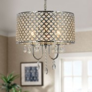 4-Light Modern Crystal Iron Chandelier (DK-RL5633)