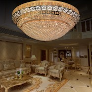 156-Light Large Gold Crystal Ceiling Light (HY02SJX040C)