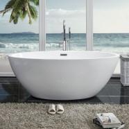 59 In Freestanding Bathtub - Acrylic Pure White (DK-PW-81572)