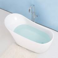 59 In Freestanding Bathtub - Acrylic Pure White (DK-PW-45572)