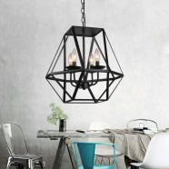 4-Light Iron Cage Pendant Light (1637-4)