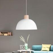 1-Light White Iron Modern Pendant Light (HYMUP1209C-1)