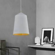 1-Light White Aluminum Modern Pendant Light (HKP31410A-1)