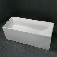 67 In Rectangular Man-made Stone Freestanding Bathtub - Matte White (DK-HA8607B)