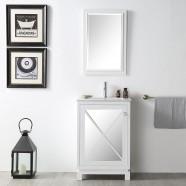 24 In. Freestanding Bathroom Vanity Set (DK-N524-W-SET)