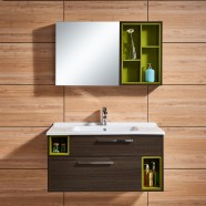 39 In. Wall Mount Bathroom Vanity Set with Mirror and Side Cabinet of Mirror (DK-660100-SET)