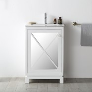 24 In. Freestanding Bathroom Vanity without Mirror (DK-N524-W)