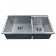 33 x 18 In. Stainless Steel Handmade Kitchen Sink (DG3318-R0)