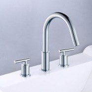 3 Pieces Bathtub Faucet - Brass with Chrome Finish (83H12-CHR-T)