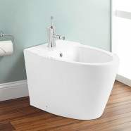 White Bidet with Faucet (DK-ZBQ-10018B)
