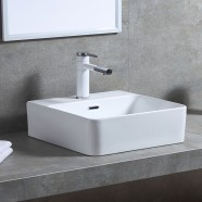 Matte White Rectangle Ceramic Above Counter Basin (CL-1275YD)