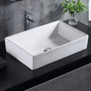 White Rectangle Ceramic Above Counter Basin (CL-1328)