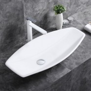 White Ceramic Above Counter Basin (CL-1302)