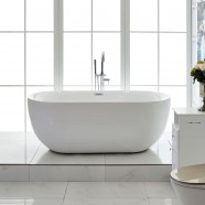 67 In Freestanding Bathtub - Acrylic Pure White (DK-PW-44778)