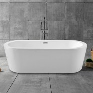 62 In Freestanding Bathtub - Acrylic Pure White (DK-PW-1582)