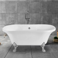 68 In Clawfoot Freestanding Bathtub - Acrylic Pure White (DK-PW-A12681)