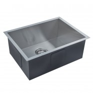 22.4 x 17 In. Stainless Steel Handmade Kitchen Sink (AS2217-R0)