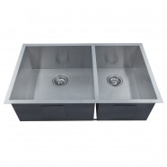 33 x 20 In. Stainless Steel Handmade Kitchen Sink (D3320-R0)