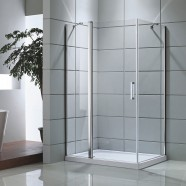 48 In. Pivot Shower Door with 36 In. Side Panel (DK-D506-120)