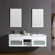 60 In. White Plywood Double Vanity Sets (DK-T9118-1-SET)
