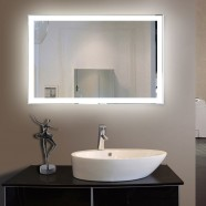 55 x 36 In LED Bathroom Mirror with Infrared Sensor (DK-OD-N031-CG)